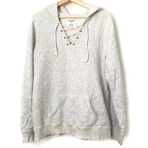 American Eagle Lace Up Tie Hoodie XL